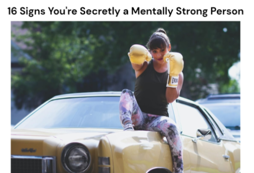16 Signs You're Secretly a Mentally Strong Person (Madness and Me article screenshot)